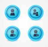 Комплект лоснистых икон интернета Стоковое фото RF