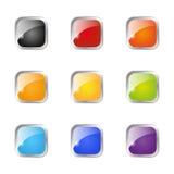 Комплект лоснистых кнопок иллюстрация штока