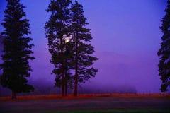 Комплект луны, Монтана Стоковые Фотографии RF
