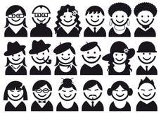 комплект людей иконы иллюстрация штока
