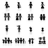 комплект людей икон Стоковые Фото