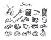 Комплект магазина хлебопекарни иллюстрация штока