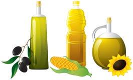 комплект масла бутылки Стоковые Фото