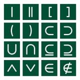 комплект математики 3 икон Стоковые Изображения