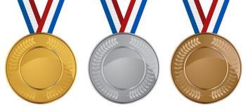 комплект медали бесплатная иллюстрация