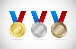комплект медали Стоковые Изображения