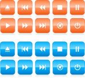 комплект медиа-проигрывателя кнопки иллюстрация штока