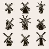 Комплект мельницы вектор стоковое изображение