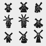 Комплект мельницы вектор стоковое фото