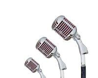 комплект микрофона ретро Стоковые Изображения
