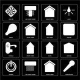 Комплект микрофона, умного дома, силы, дома, ручки, Eco умного, c иллюстрация штока