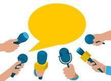 Комплект микрофонов Микрофоны собрания в руке иллюстрация вектора