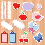 Комплект милых элементов scrapbook Стоковые Фото
