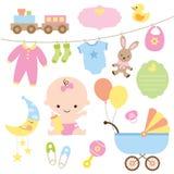 Комплект младенца иллюстрация штока
