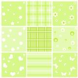 комплект младенца зеленый безшовный Стоковые Фото