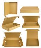 Комплект модель-макета картонной коробки Стоковая Фотография RF