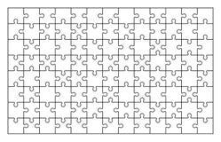 Комплект мозаики 104 частей иллюстрация штока