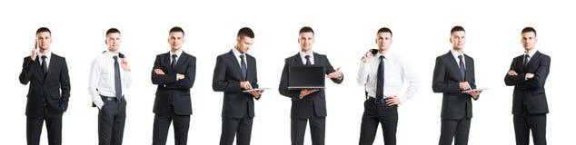 Комплект молодого и красивого бизнесмена изолированного на белизне Busin Стоковая Фотография RF