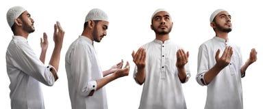 Комплект мусульманского человека молит Стоковая Фотография RF