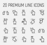 Комплект награды линии значков жеста иллюстрация вектора