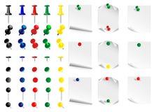 комплект нажима штыря иллюстрация вектора
