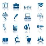 комплект науки иконы образования иллюстрация вектора