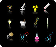 комплект науки иконы Стоковое Фото