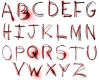 комплект неона алфавита Стоковые Изображения RF