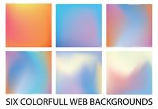 Комплект 6 новых современных предпосылок градиента стоковое фото rf