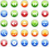 комплект нот иконы стоковое изображение rf
