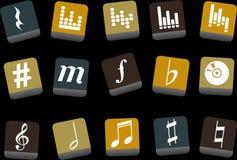 комплект нот иконы бесплатная иллюстрация