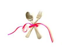 комплект обеда романтичный Стоковое Фото