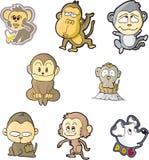 комплект обезьяны одного иллюстрация вектора
