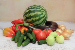 Комплект овощей Стоковые Изображения
