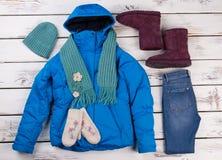 Комплект одежд ` s женщин стоковое изображение
