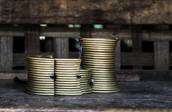Комплект ожерелья золота для племени холма Стоковые Фотографии RF