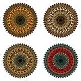 Комплект орнаментальных элементов Стоковые Изображения RF