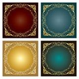 Комплект орнаментов radial сбора винограда Стоковые Фото