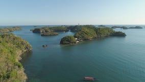 Комплект островов в море philippines Стоковые Изображения