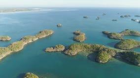 Комплект островов в море philippines Стоковое Изображение