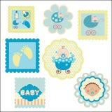 Комплект открыток, стикеров Стоковая Фотография