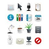 комплект офиса иконы Стоковые Фотографии RF