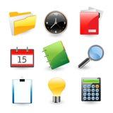 комплект офиса иконы Стоковое Изображение RF