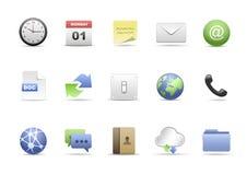 комплект офиса иконы Стоковое фото RF