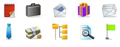 комплект офиса иконы иллюстрация вектора