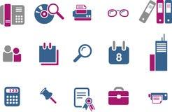 комплект офиса иконы бесплатная иллюстрация