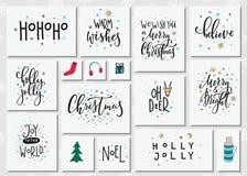 Комплект оформления литерности Нового Года рождества Стоковая Фотография