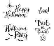 Комплект оформления хеллоуина бесплатная иллюстрация