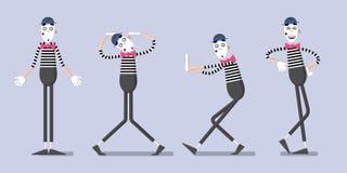 Комплект пантомим 02 Стоковые Фотографии RF