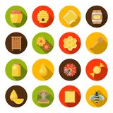 Комплект пасеки меда иллюстрация штока